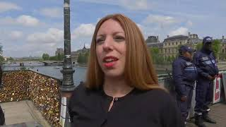 VIDEO: Paris cuts ties with famous love lock bridge
