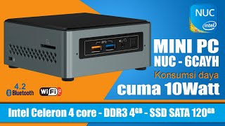 INTEL Mini PC NUC 6CAYH RAM 4GB SSD 120GB
