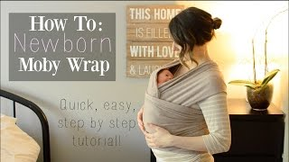 How To: Moby Wrap With A Newborn ♡ Newborn Hug Hold | CARRYING A NEWBORN