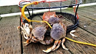 Catch n Cook Dungeness Crab.  Part 1 of 3: Crab and Salmon Trip in Crescent City, CA