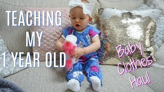 HOW I TEACH MY 1 YEAR OLD TO TALK| Summer Baby Clothing Haul| Tres Chic Mama