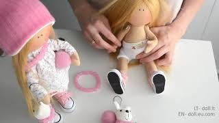 Handmade Interior Doll Bunny Girl | Rankų Darbo Lėlytė Zuikytė