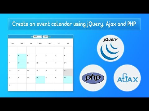 Download Create An Event Calendar Using Jquery Ajax And Php