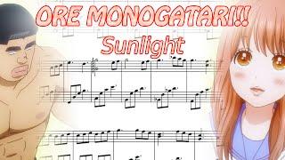 Sunlight | Moumoku no Kokoro (ORE MONOGATARI!!) - [Sheets Played Piano Tutorial] (Sheets+MIDI)