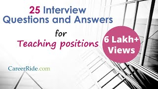 Interview Questions and Answers for Teachers