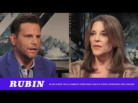 """Marianne Williamson Demolishes Dave Rubin On His """"Open Borders"""" Delusions ft. Vic Vaiana (TMBS 98)"""