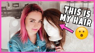 Giving A Wig Made of My Hair To A Subscriber Without Hair!