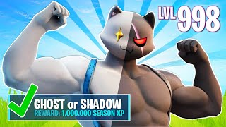 New GHOST & SHADOW MEOWSCLES Challenges! (Fortnite Battle Royale)