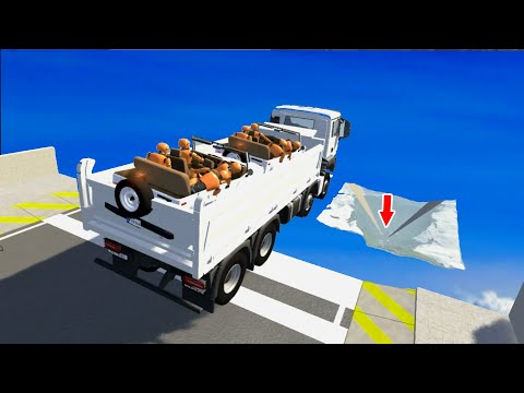 CRAZY High Speed Jumps #38 BeamNG Drive CrashTherapy