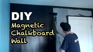 DIY - How To Make A Magnetic Chalkboard Wall