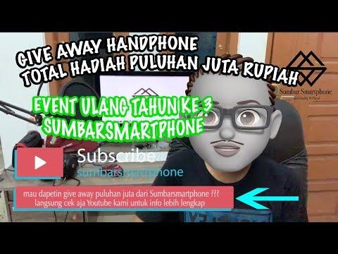 GIVEAWAY Handphone & Apple Watch  ORIGINAL PULUHAN JUTA RUPIAH BOSQUE || Sumbar Smartphone