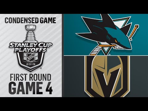 04/16/19 First Round, Gm4: Sharks @ Golden Knights