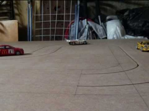 wood routed slot car track Part 1.