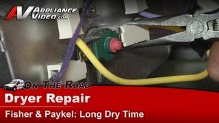 Fisher and Paykel Dryer Repair - Long dry time - Not heating - DDEGX2-96102-B-US