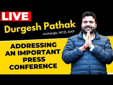 🔴LIVE | AAP Leader Sh. Durgesh Pathak addressing on Bjp Governed Delhi MCD | BJP Exposed