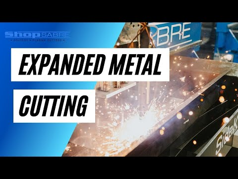 Cutting Expanded Metal on Plasma Cutter – ShopSabre CNCvideo thumb