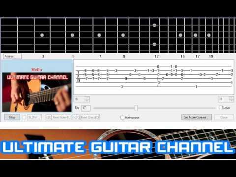[Guitar Solo Tab] Hello (Lionel Richie)