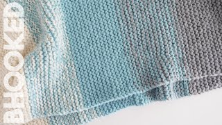 How To Knit A Baby Blanket For Complete Beginners - Easy Knit Baby Blanket