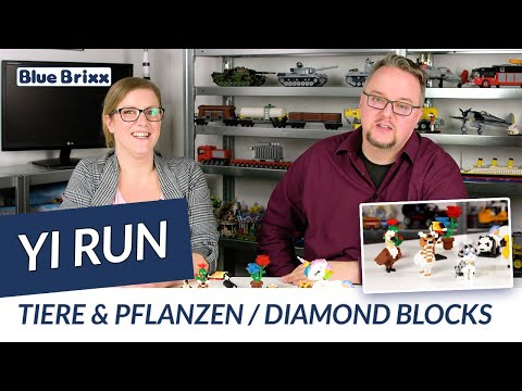 Regenbogen Einhorn (Diamond Blocks)