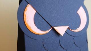 HALLOWEEN SERIE: Owl card - Tarjeta búho