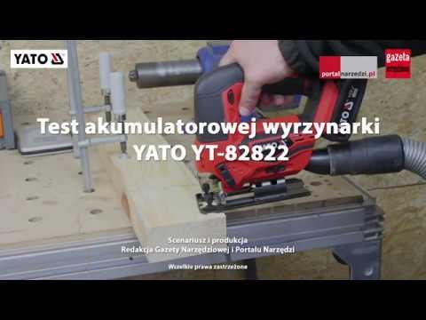 Test akumulatorowej wyrzynarki YATO YT-82822