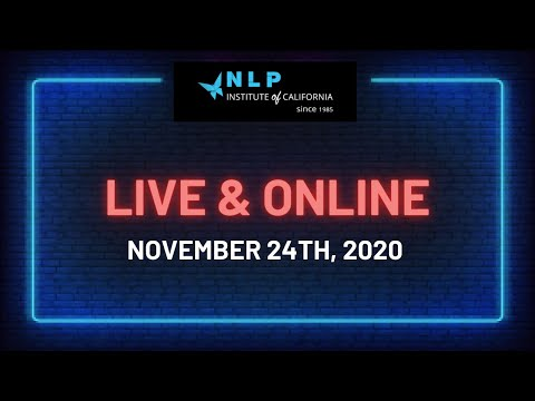 NLP Practitioner Online Certification - NEW 2020 - Live and Online ...