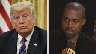 President Donald Trump REACTS to Kanye West's Presidential Run