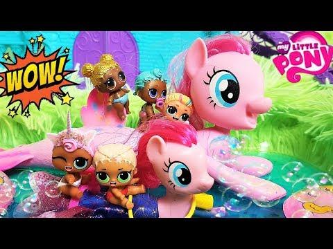 КУКЛЫ ЛОЛ МУЛЬТИКИ! РУСАЛКА В БАССЕЙНЕ ЛОЛ #lolsurpise #мультики #pony видео
