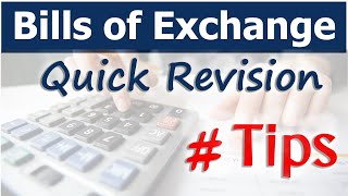 Bills of Exchange | Tips and Quick Revision | Letstute Accountancy