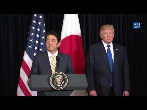 Joint Statment by President Trump and Prime Minister Shinzō Abe