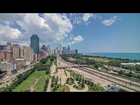 A park-view 2-bedroom, 2-bath model at the South Loop's iconic new NEMA