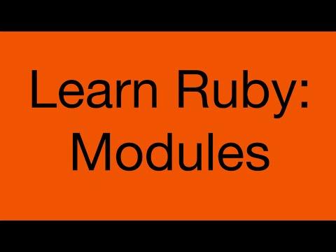 Learn Ruby: Modules