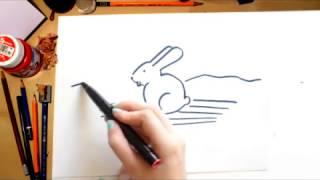 Como desenhar um Coelho - desenhos para crianças