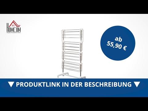 Homcom Mobiler Wäscheständer / Wäscheturm mit 4 Ebenen klappbar - direkt kaufen!