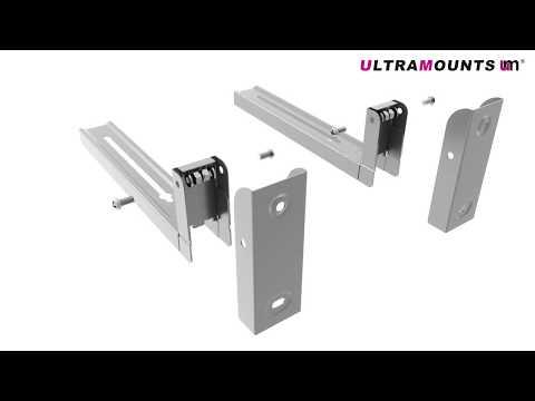 UltraMounts UM888S. Установка СВЧ на стену с помощью кронштейна UM888S.