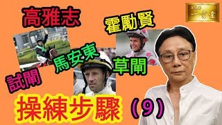 高雅志/馬安東/霍勵賢…試閘Barrier Trial...操練步驟 (9)【梁定華一言堂…2019-2020馬季前瞻】