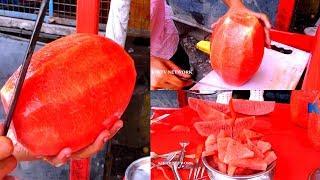 Watermelon Cutting || KIKTV Network || Indian Street Food