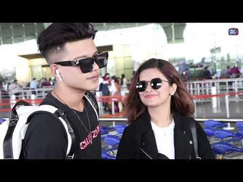 Riyaz Aly and Avneet Kaur Together At The Airport
