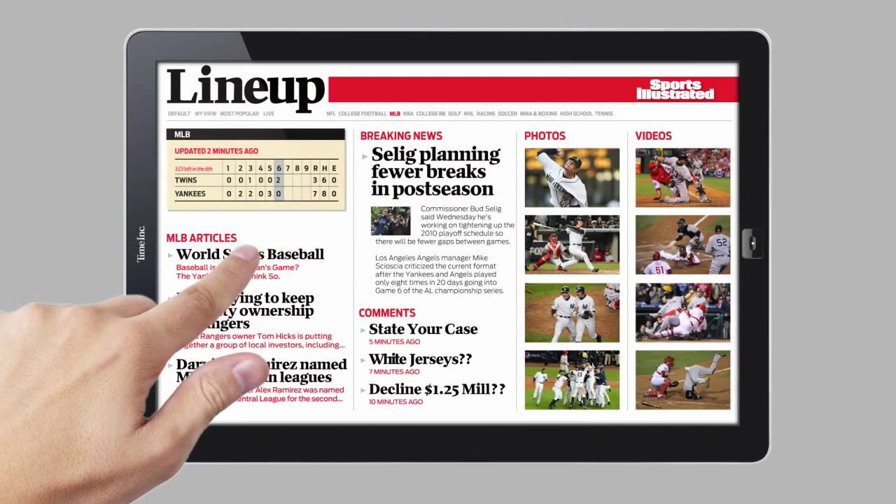 Video: What Sports Illustrated (and Other Mags) Will Feel Like On A Tablet