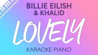 Gambar cover Lovely (Piano Karaoke Instrumental) Billie Eilish & Khalid