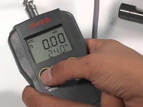 Uso del Medidor de pH/Conductividad/TDS HI 991301