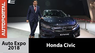 2018 Honda Civic India launch; Auto Expo 2018 - Autoportal