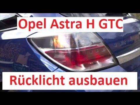 Opel Astra H GTC Rücklicht ausbauen / wechseln / Birne wechseln hinten