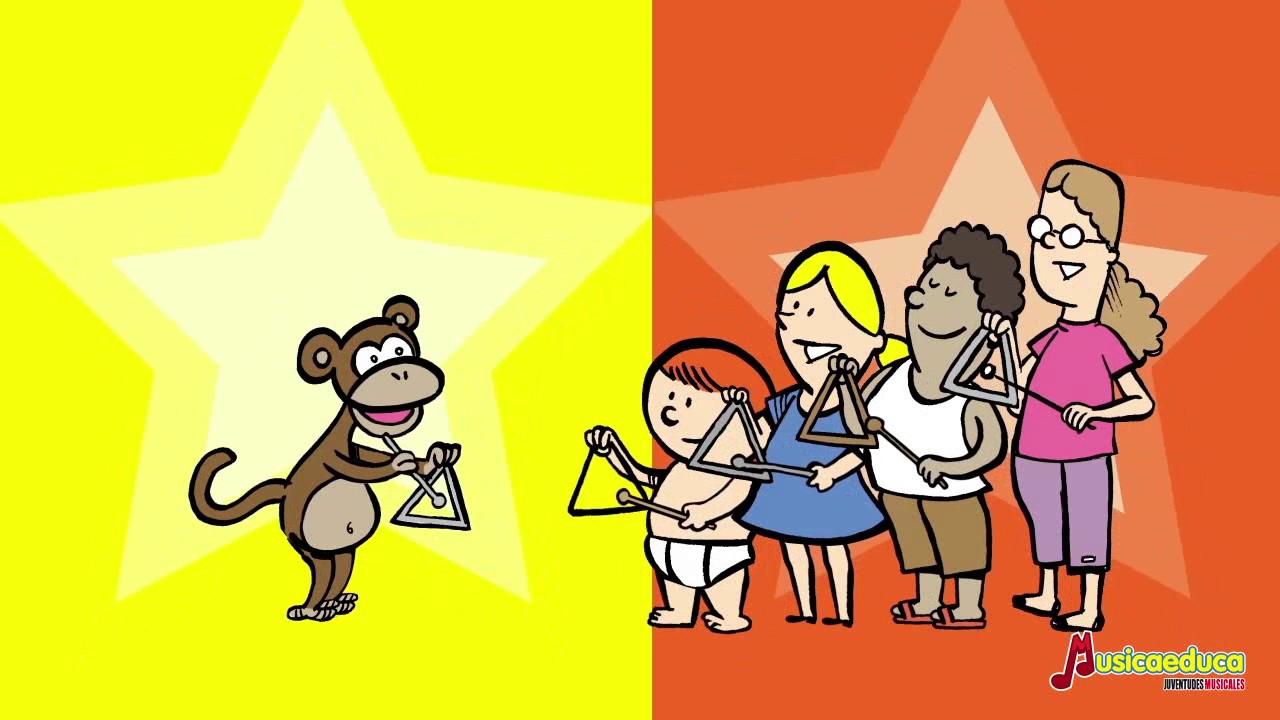 Mono triángulo - Canciones infantiles del Zoo de Musicaeduca