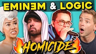 Adults React To Logic   Homicide Ft. Eminem