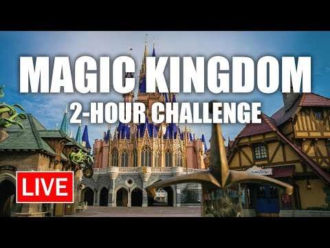 🔴 Live: Magic Kingdom 2-HOUR CHALLENGE | Walt Disney World Live Stream