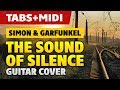 Simon And Garfunkel - The Sounds Of Silence (Acoustic Guitar Cover with Tabs and Midi)