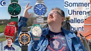 Sommerlich: 15 Farbige Uhren von 5 deutschen Marken