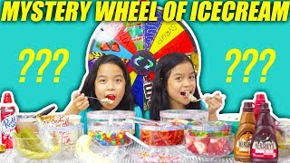 MYSTERY WHEEL OF ICE CREAM SUNDAE CHALLENGE | Tran Twins
