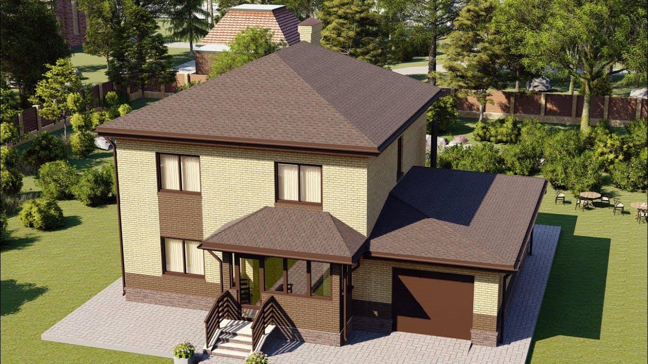 Проект дома 160-D, Площадь дома: 160 м2, Размер дома:  14x9,6 м